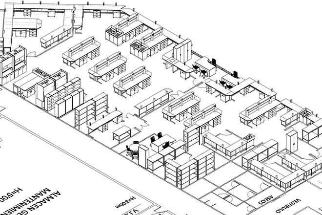 Plano de mobiliarios Inbautek