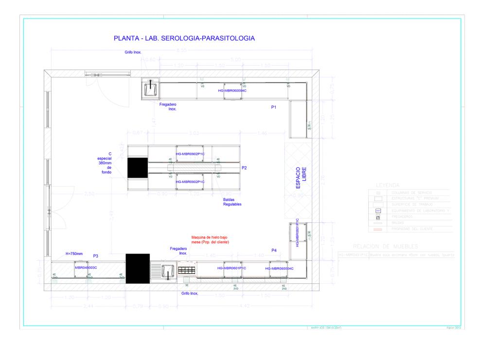 Plano general del proyecto Arrixaca - Inbautek