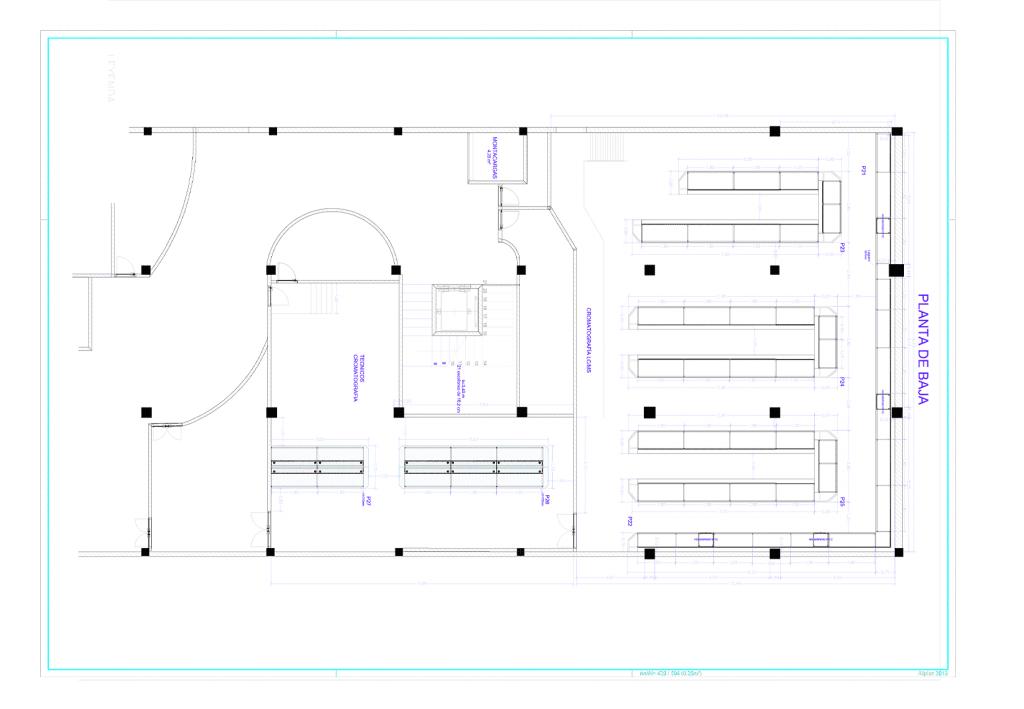 Plano general del proyecto Ecosur de Inbautek